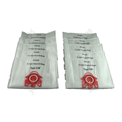 Pack Of 10 Miele S536 Vacuum Bags Type FJM *Free Delivery*