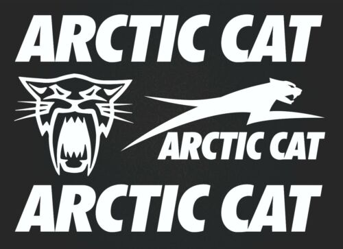 4 stickers high quality white SK-179 Arctic cat Set of stickers