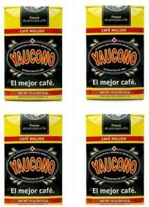 4-PACK-CAFE-YAUCONO-COFFEE-PUERTO-RICO-BRAND-MOLIDO-GROUND-14oz-FREE-SHIPPING