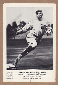 1963-Hall-Of-Fame-picture-pack-Ty-Cobb-Detroit-Tigers-5x7