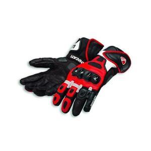 Motorcycle Gloves Leather Original Ducati Speed Air C1 Red Black 98104209 Ebay