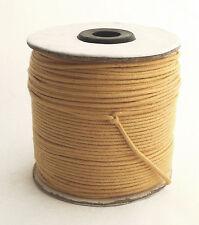 100m Baumwollband (0,13 €/1m) natur, 1,5 mm rund, poliert, gewachst Rolle/Spule
