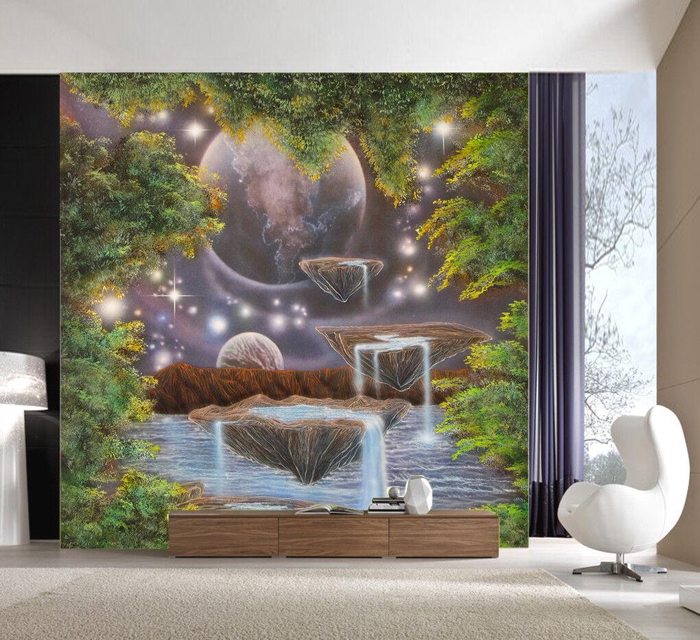 3D Stream Planet 42 Wallpaper Murals Wall Print Wallpaper Mural AJ WALLPAPER UK