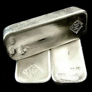 100 Ounce Johnson Matthey 999 Fine Silver Bar 100oz Ebay