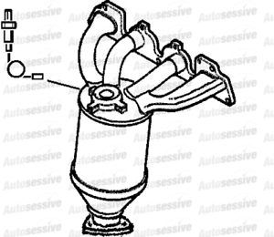Vauxhall Astra 1.8 Z18Xe Coupe 01-02 Exhaust Maniverter Manifold Spare Part