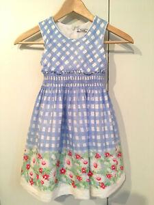628e2d201bddc8 Das Bild wird geladen Sommerkleid-Mayoral-Gr-122-Kleid-Blumen-kariert- hellblau-