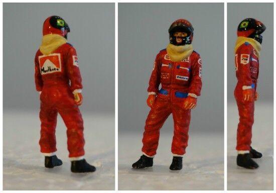 Emerson fittipaldi 1974 mclaren figurine pilot diorama 1 43 f1 driver figure
