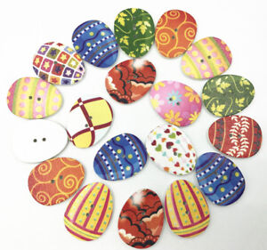 10x 50pcs Assorted Wooden Rabbit Shape Buttons Flatback for Sewing Decor Craft