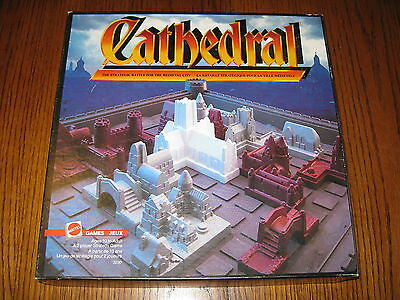 Cathedral Strategy Board Game Mattell 1986  Medieval City Complete