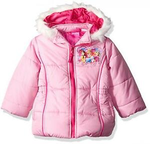 3837278373ab Disney Princess Toddler Girls Pink Puffer Coat Size 2T 3T 4T 5T