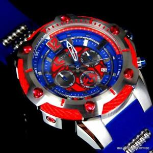 Invicta-Marvel-Bolt-Spider-Man-52mm-Limited-Edition-Chronograph-Blue-Watch-New