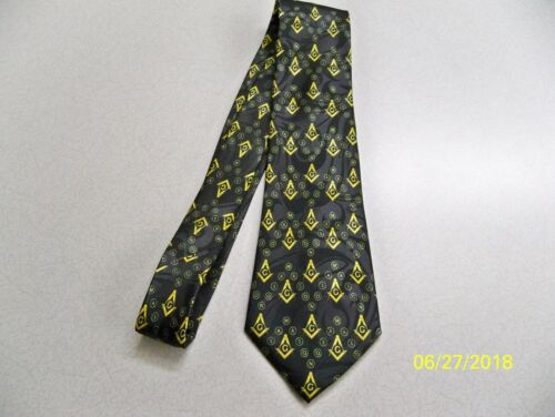 Mason Freemasonry Fraternal square  compass quality mens necktie #48 Masonic