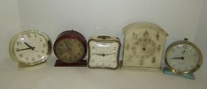 ANTIQUE-VINTAGE-WIND-UP-DESK-ALARM-CLOCKS-LOT