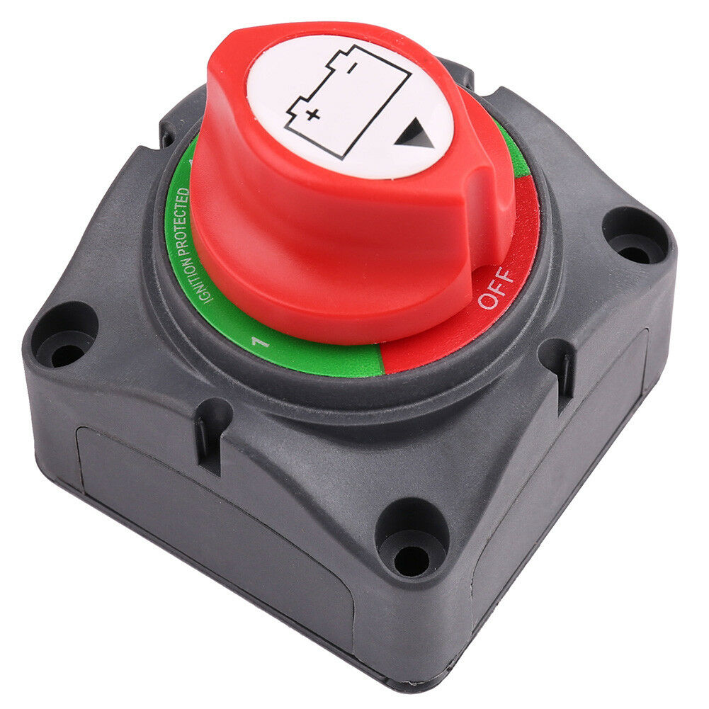 Battery Disconnect Isolator Master Switch 12V//24V 200A-500A with 2 Removable Key Rotary Switch Isolator Master Power Cut Out//Off Switch for Marine Car Boat RV ATV Vehicles