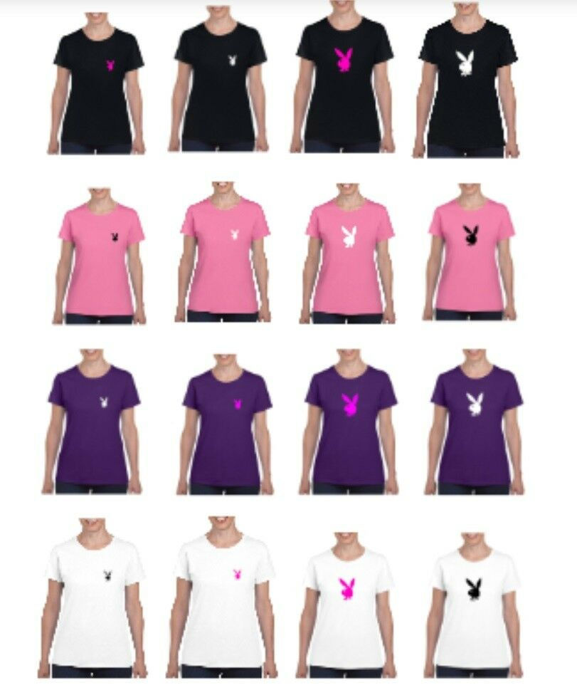 PLAYBOY logó stílus póló női különböző színek és méretek (S-2XL)