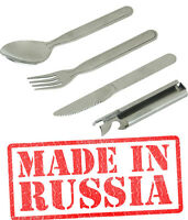 Russian Spoon Fork Knife Bottle Survival Kit Fishing Hunting Edc Stainle Steel