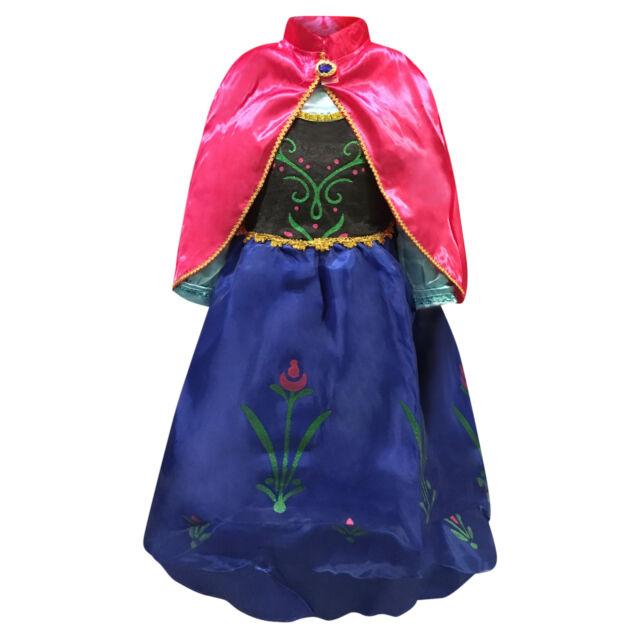 Kids Girls Party Fancy Dresses Elsa Dress up Costume Princess Dress Accessories