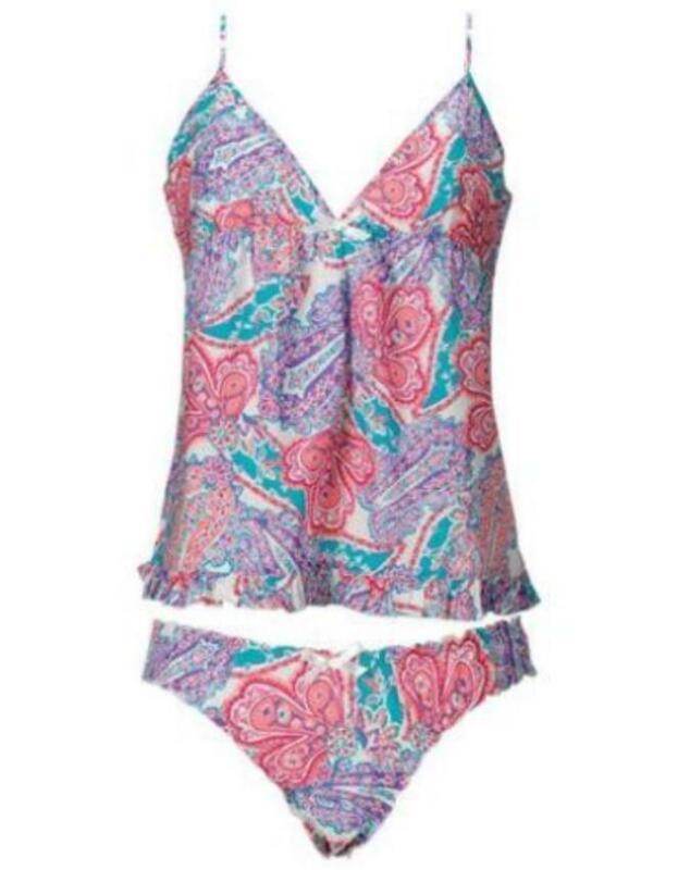 Avon Ladies Colette Summer Set Size 10 12 Babydoll Camisole Top Knicker Briefs
