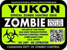 Canada Yukon Zombie Hunting License Permit 3x4 Decal Sticker Bio Hazard 1312