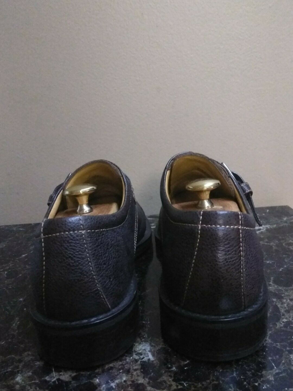 Cole Haan Mens Cap Toe Toe Toe Dress schuhe w  Buckle C07774 Pebbled braun Größe 10 M 713ec6
