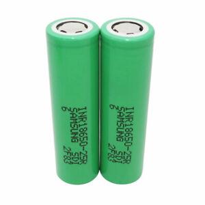 2X 18650 2500mAh Batterie 3.7V Li-ion Rechargeable 25R  High Drain For Vape Pen
