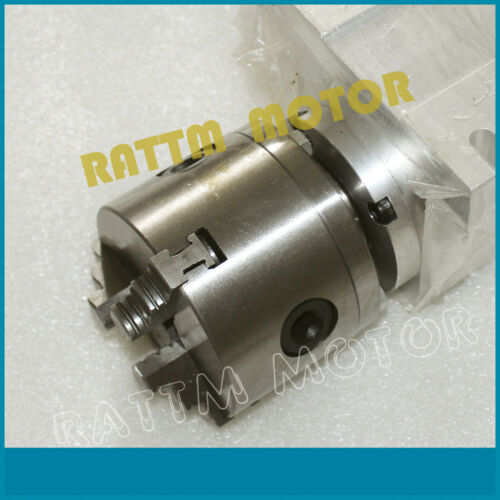 CNC 3 Jaw K11-100 Rotatry 4th Axis 50:1 Gapless harmonic Reducer+65mm Tailstock