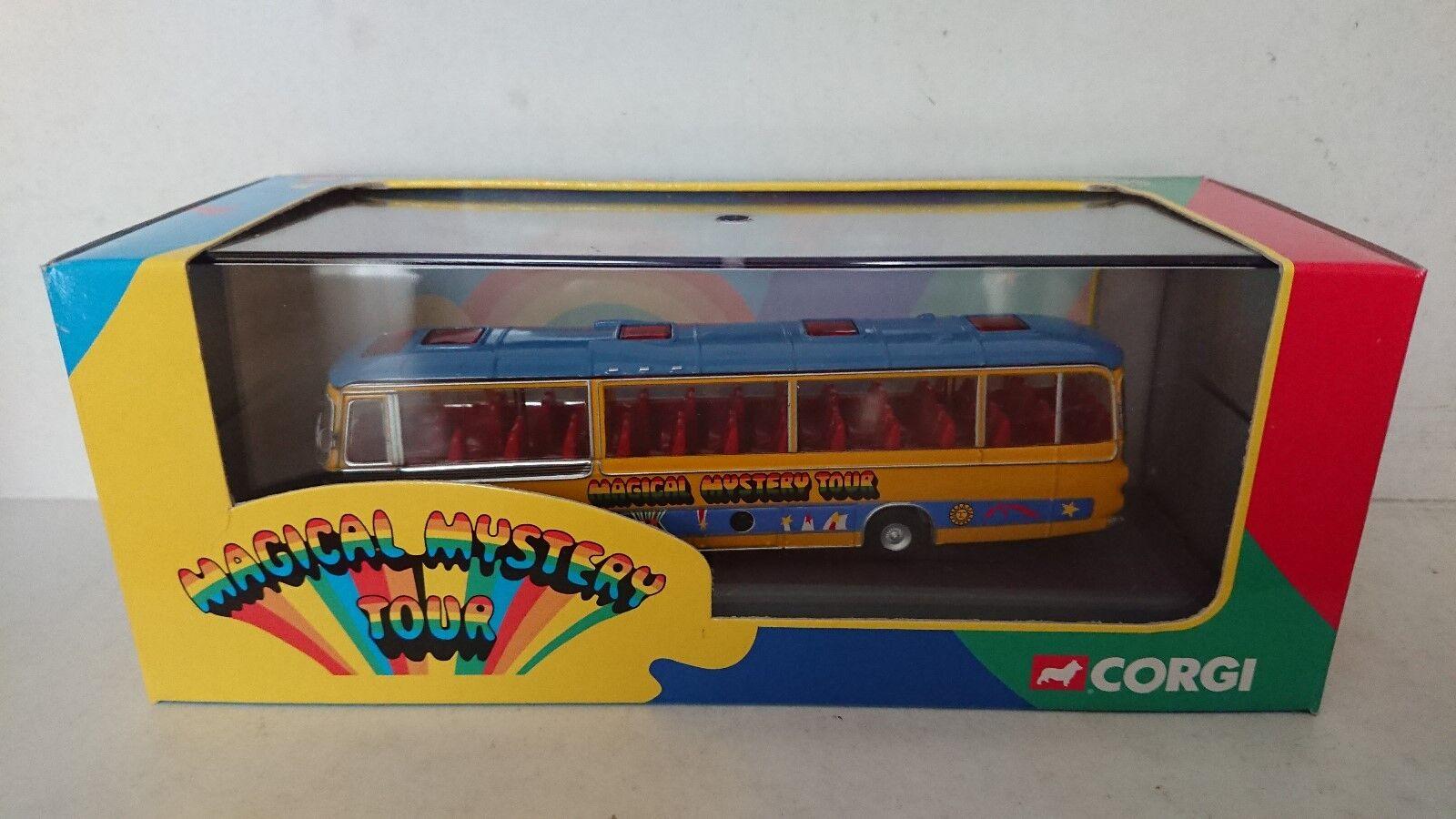 RARE Corgi 42403 The Beatles Bedford VAL Panorama Magical Mystery Tour Bus