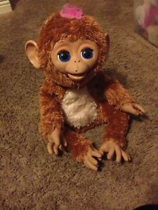 2012-FurReal-Friends-CUDDLES-MY-GIGGLY-MONKEY-PET-by-HASBRO-Works