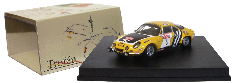 Trofeu 818 Alpine Renault A110 3ª San Remo Rally 1975-J L therier 1 43 Escala