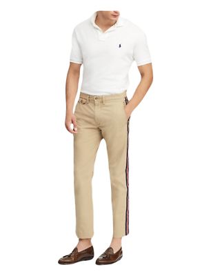 dc78c3a4a031a6 Polo Ralph Lauren Men's Bedford Stretch Straight Fit Chino Pants 36 x 32  NWT $98