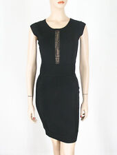 French Connection Cruz Danni Dress Black Knit US-6 UK-10 $188 9459 BM12