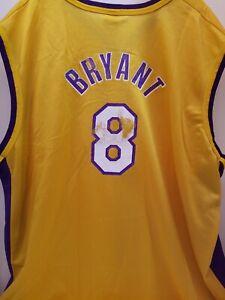 Kobe Bryant #8 LA LAKERS AUTHENTIC CHAMPION VINTAGE NBA Jersey ...