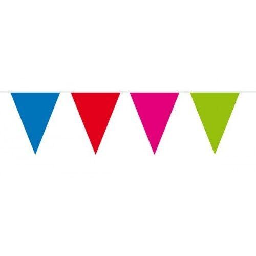 Bunting xl différentes couleurs 10 mètres de long avec 42cmx30cm triangle drapeaux