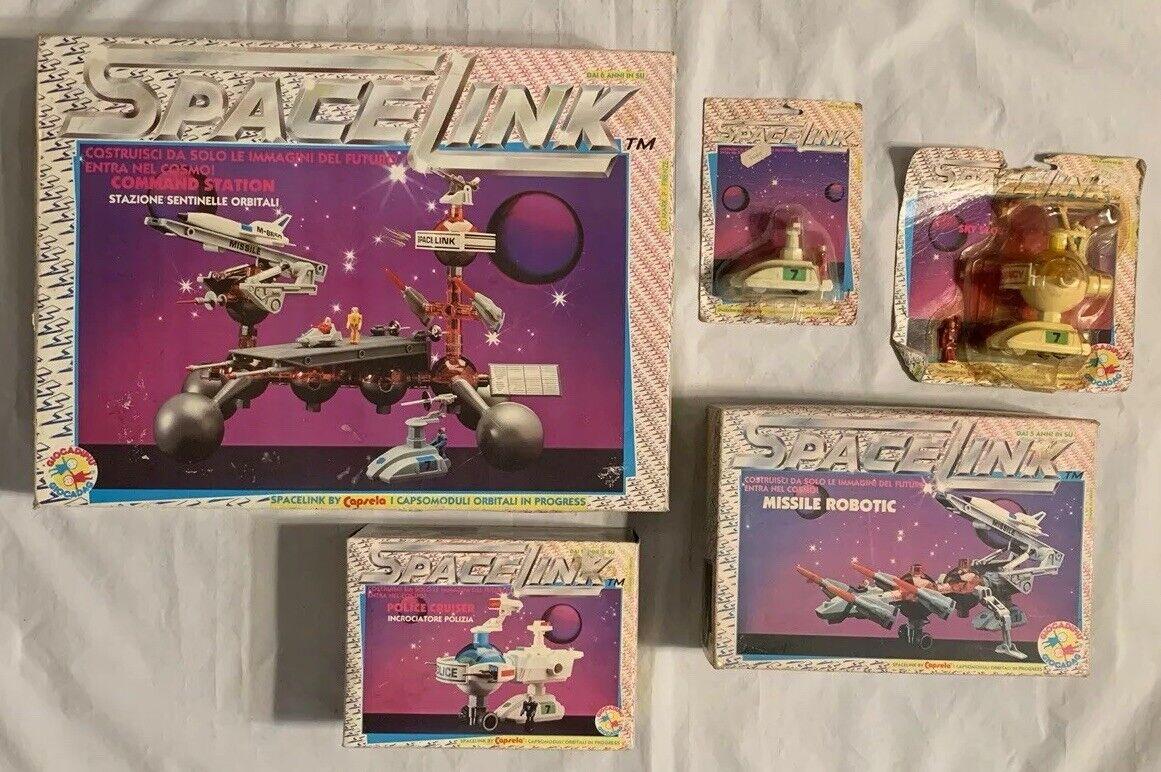 Vintage Capsela Spacelink Cosmic Force Lot MIB Box MOC Foreign Star Wars KO Lego