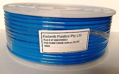 Polyurethane PU BLUE tube coil 8mm x 5mm x 100m Air Tubing pneumatic
