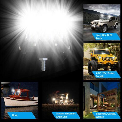 "18W 4Pcs Dual Row LED Work Lights Bar Pod Spot Offroad Lamp ATV JEEP UTE 4/"" Cube"