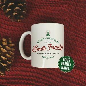 Family Christmas Mug Personalized With Your Family S Name Set 11oz Coffee Mug Ebay