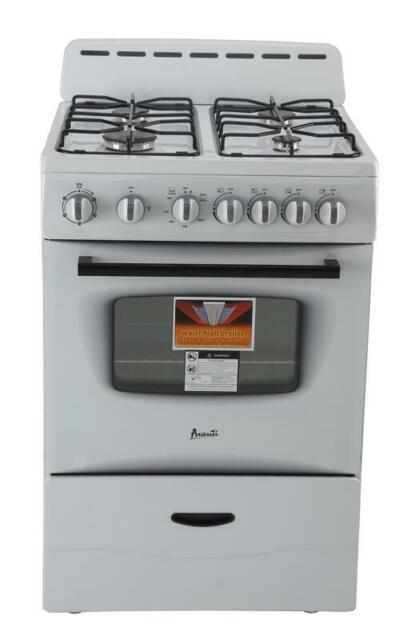 Avanti Gr2414cw 24 Gas Range Burners White For Sale Online Ebay