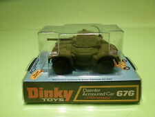 DINKY TOYS 676 DAIMLER ARMOURED CAR - RARE SELTEN - NEAR MINT IN BLISTER