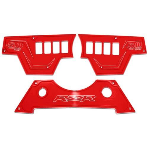 USA Made CNC Billet 3pc 8 Switch Dash Panel Bezel Polaris RZR S 900 Havasu Red