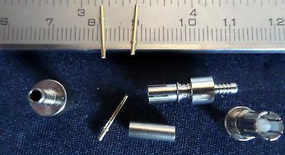 Praktisch 100 Stück Smb-fakra Buchse Weiblich Gerade Radiall R114.082.345 GläNzende OberfläChe