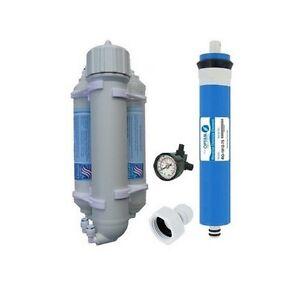 Osmoseur aquarium et manomètre 75 GPD 280 l/J
