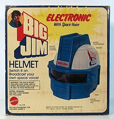 PredOTYPE BIG JIM ELECTRONIC HELMET w Space Voice RARE