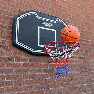 Wall Mounted Basketball Backboard Full Size Hoop Net Heavy Duty JumpStar
