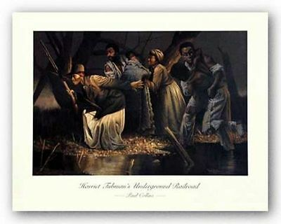 AFRICAN AMERICAN ART PRINT Underground Railroad Paul Collins
