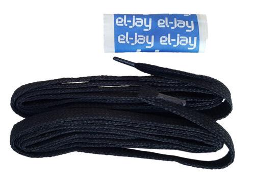 """El-Jay 2 X 100 cm 39/"""" Negro Tejido de nylon cordones de rugby fútbol Mrrp £ 1-99"""