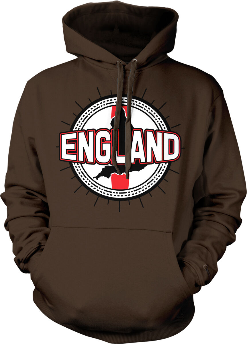 England Flag Ball Born From English Country Outline GBR Team Hoodie Sweatshirt
