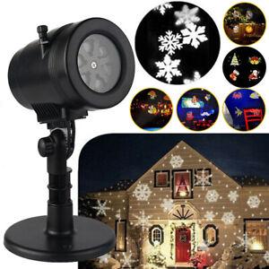 LED Laser Licht Projektor Weihnachts Weihnachten Außen Beleuchtung Garten Lampe