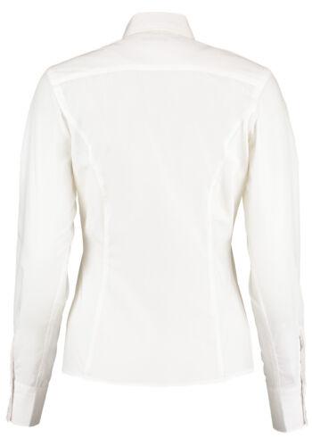 Kustom Kit Kit Mujer L//S Camisa de Negocios Fácil De Hierro desgaste de la oficina KK743F