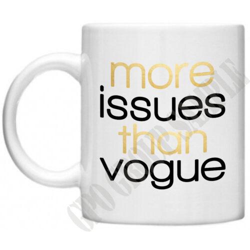 Plus de questions que Vogue Diva Womens cadeaux pour maman maman nouveauté thé tasse à café tasse